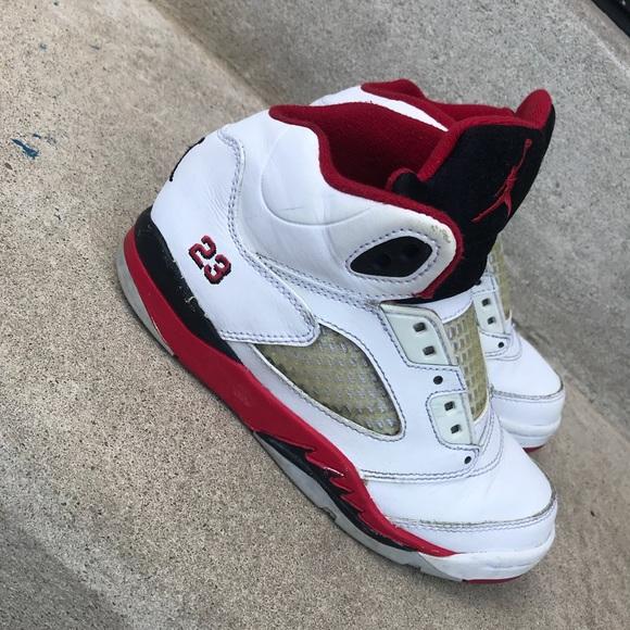 pretty nice ea359 41300 Kids fire red Jordan 5 (13c)